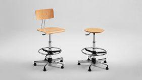 Arredi metallici produzione, sgabelli e sedie regolabili