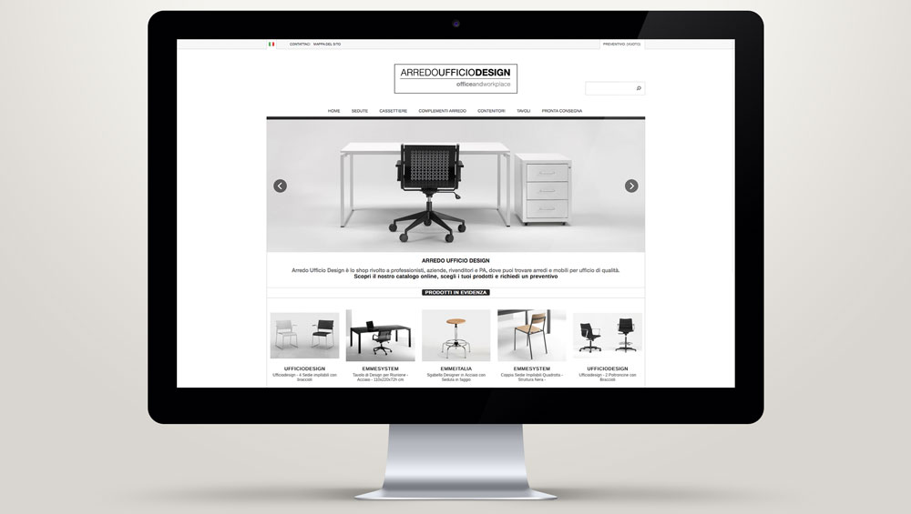 Arredo ufficio design shop online emme italia for Outlet design online