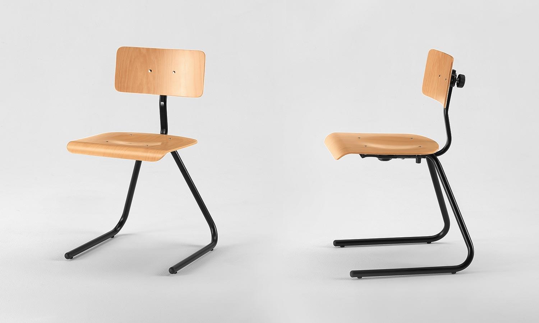 Sgabelli regolabili da laboratorio e disegnatore sedie scuola emme italia - Sedia cantilever ...