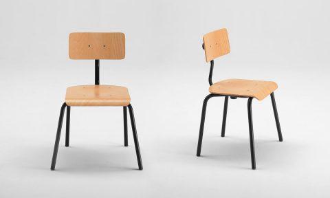 Sedie scuola in legno con schienale regolabile