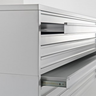 Drawer units for museum