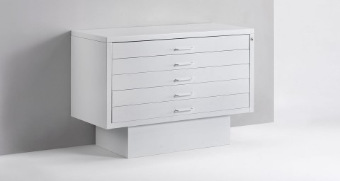 Metal flat drawer unit for shop