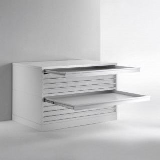Metal flat files for museum