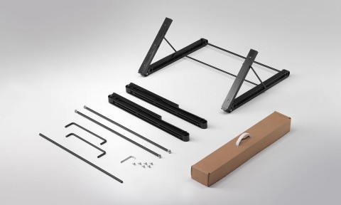Rack adjustable support