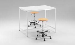 School desks for laboratory