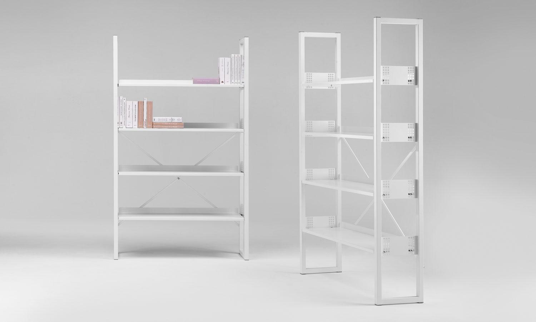 Librerie armadi e mobili contenitori in metallo per for Mobili contenitori design