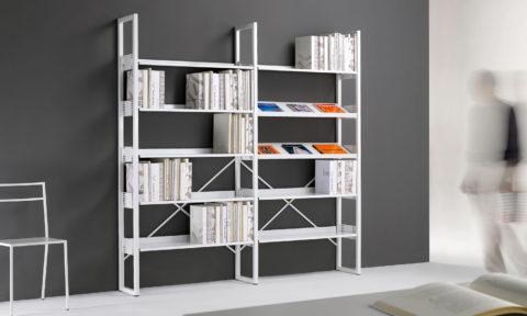 Libreria in metallo di design per negozio bookshop