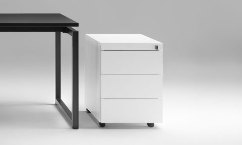 Office metal drawer unit on castors
