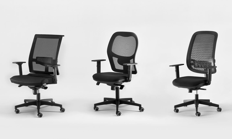 Sedie ufficio ergonomiche sedute collettivit panche for Sedute ufficio