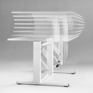 Standing desk height-adjustable