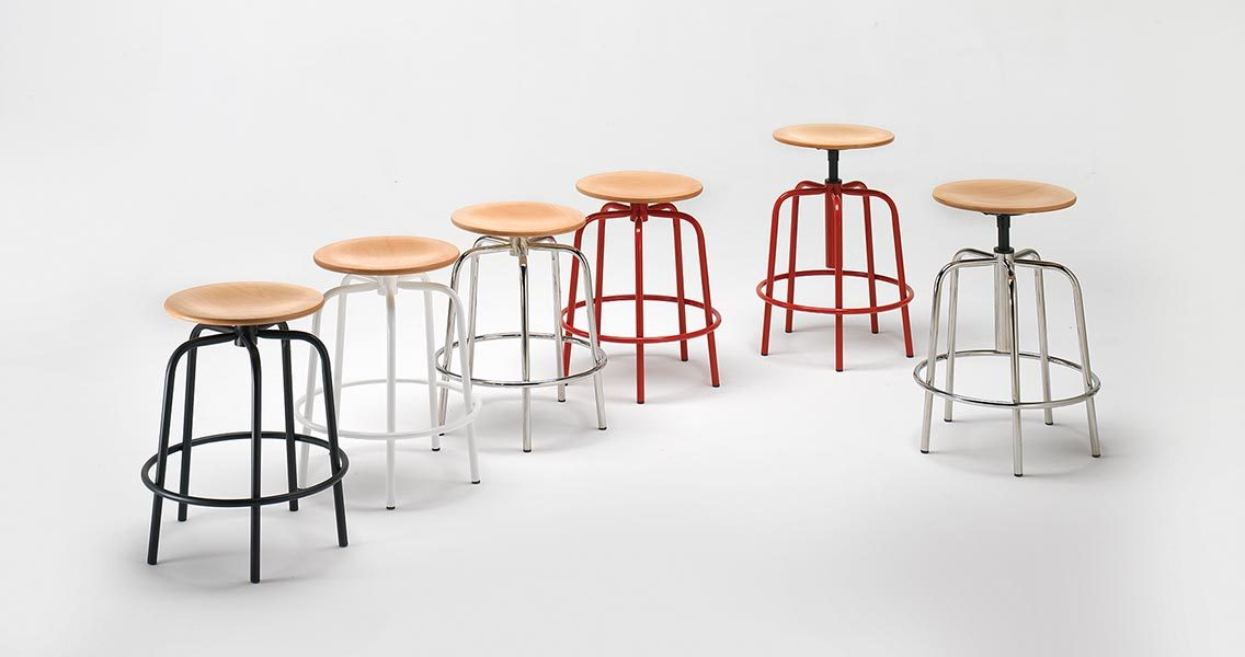 Metal furniture for office - Stools Emme Italia