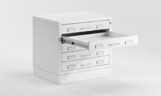 Metal flat drawer cabinet for museum
