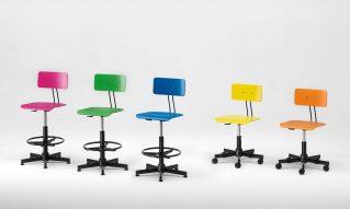 Wood and metal restaurant bar stools