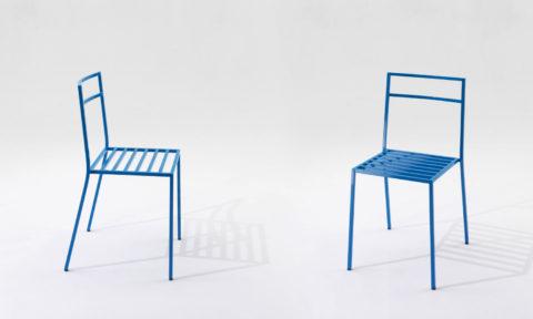 Sedie da esterno di design in acciaio