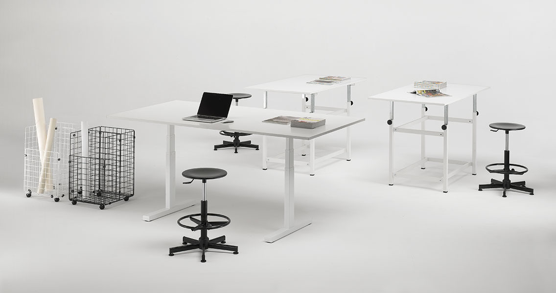 Metal furniture for modern office