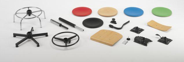 componenti per sedie e sgabelli regolabili