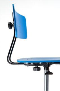 Arredi scolastici innovativi: sedia con schienale regolabile in altezza e profondità